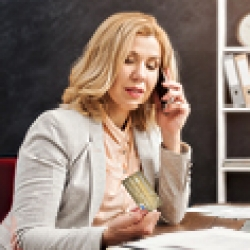 Picture of a woman talking on the phone